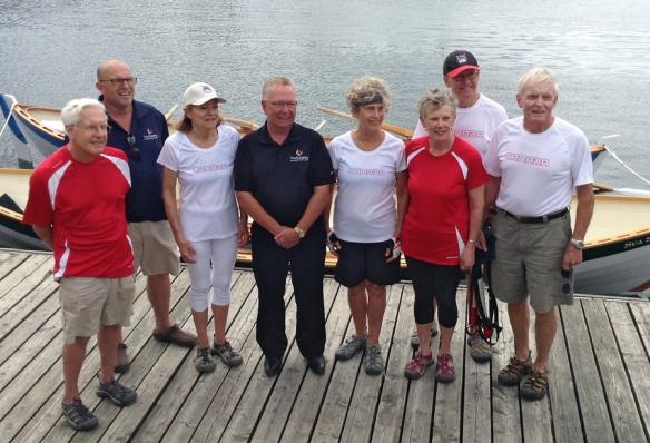 L to R: Sandy Pratt, Steve Ferguson, Elyse Graff, Robert Quaiff, Jane Dean, Marilyn Kennedy, Tony Dean and Bob McKittrick